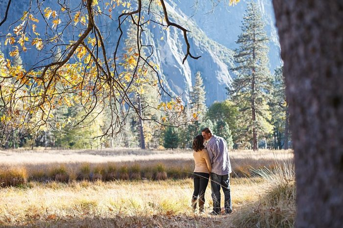 3 Fall Engagement In Yosemite | Bergreen Photography | Via MountainsideBride.com