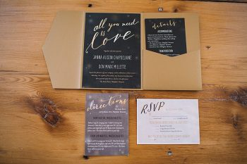 Stationery | Late Fall Vermont Mountain Wedding At Amee Farm By Love Perry Photography via MountainsideBride.com