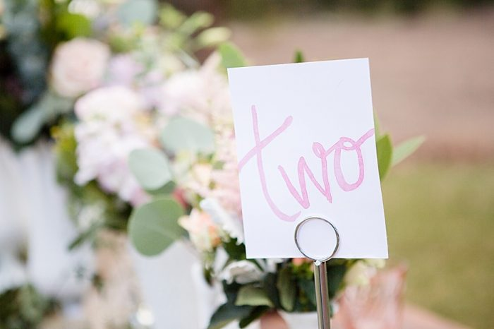 Table Number | Watercolor Wedding Inspiration | Nordic Center Breckenridge Colorado | Sarah Roshan Wedding Photographer