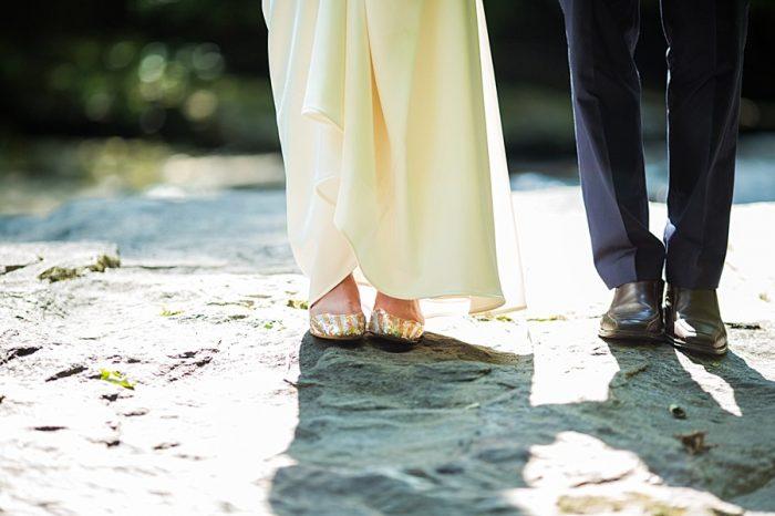 Wedding Shoes | Vermont Mountain Wedding | Alexix June Photography | Via MountainsideBride.com 0435