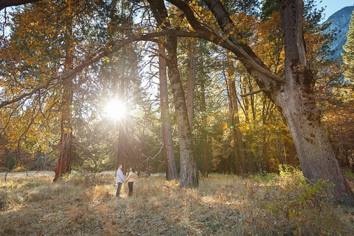 9 Fall Engagement In Yosemite | Bergreen Photography | Via MountainsideBride.com