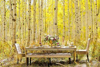 Table Inspiration For A Fall Wedding   Aspen Gold Utah Wedding Inspiration   Pepper Nix Photography   Via MountainsideBride.com
