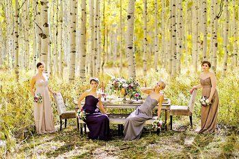 Fall Bridesmaid Inspiration   Aspen Gold Utah Wedding Inspiration   Pepper Nix Photography   Via MountainsideBride.com