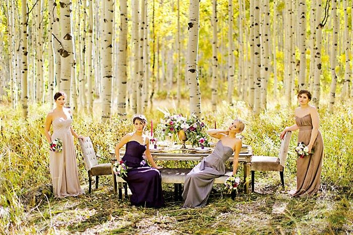 Fall Bridesmaid Inspiration | Aspen Gold Utah Wedding Inspiration | Pepper Nix Photography | Via MountainsideBride.com