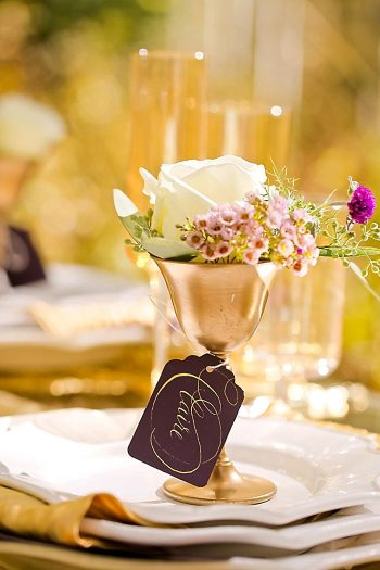 Placesetting With Roses   Aspen Gold Utah Wedding Inspiration   Pepper Nix Photography   Via MountainsideBride.com