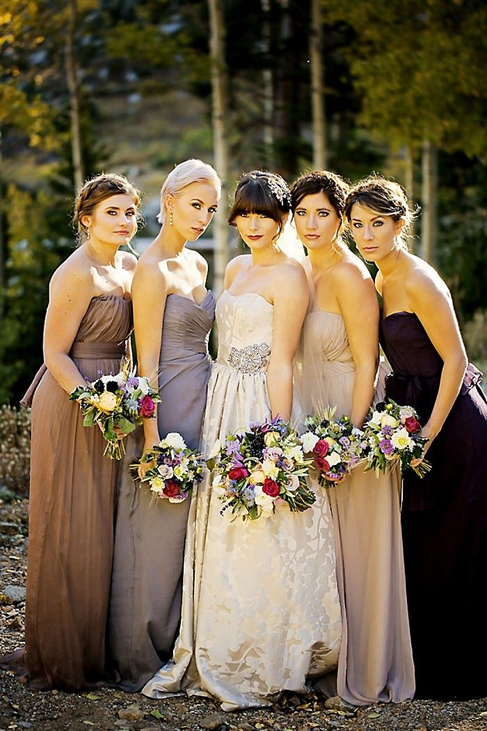 Bridesmaids Fall Wedding | Aspen Gold Utah Wedding Inspiration | Pepper Nix Photography | Via MountainsideBride.com