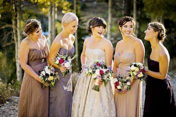 Bridesmaids Fall Wedding Inspiration   Aspen Gold Utah Wedding Inspiration   Pepper Nix Photography   Via MountainsideBride.com