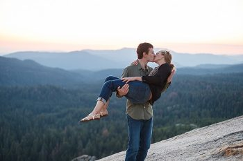Rock Climbing Engagement | Bergreen Photography | Via MountainsideBride.com