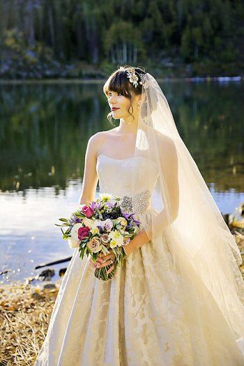 Bride Fall Wedding   Aspen Gold Utah Wedding Inspiration   Pepper Nix Photography   Via MountainsideBride.com