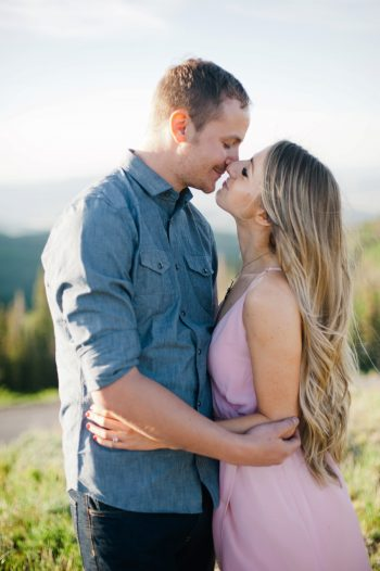 3b Utah Engagement With Pink Details | Amy Cloud Photography | Via MountainsideBride.com