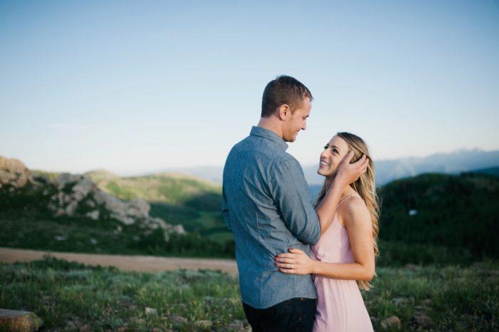 4 Utah Engagement With Pink Details   Amy Cloud Photography   Via MountainsideBride.com