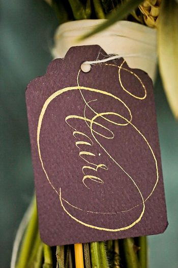 Bridesmaid Bouquet Name Tag | Aspen Gold Utah Wedding Inspiration | Pepper Nix Photography | Via MountainsideBride.com