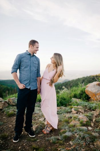 8 Utah Engagement With Pink Details | Amy Cloud Photography | Via MountainsideBride.com
