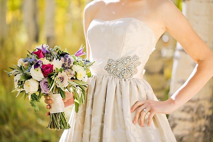 Wedding Gown Detail | Aspen Gold Utah Wedding Inspiration | Pepper Nix Photography | Via MountainsideBride.com
