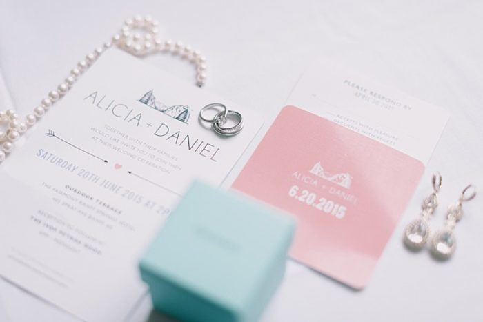 Wedding Invitations | Romantic Banff Wedding | Nicole Sarah Photography | Via MountainsideBride.com