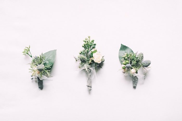 boutonnieres | Romantic Banff Wedding | Nicole Sarah Photography | Via MountainsideBride.com