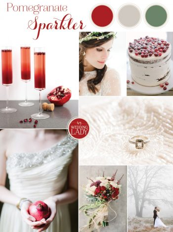 0 Pomegranate Sparkler Festive Winter Wedding Cocktail