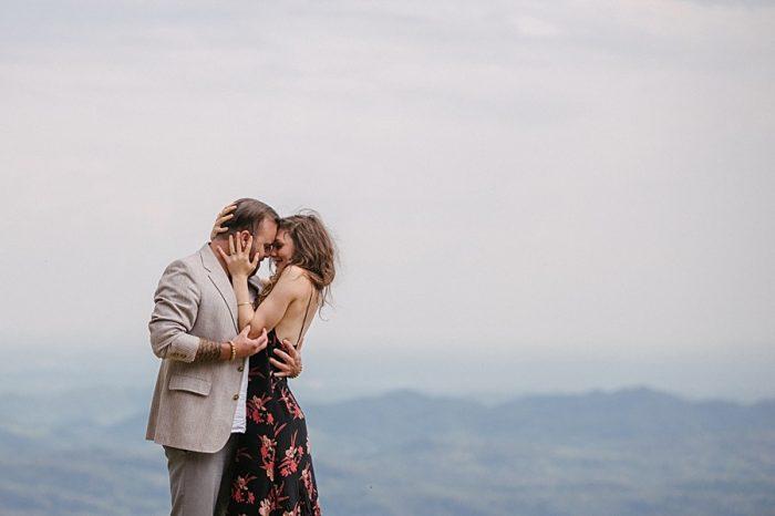 Grandfather Mountain Engagement | Rivkah Fine Art Photography | Via MountainsideBride.com