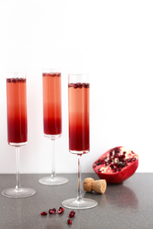6 Pomegranate Sparkler Winter Wedding Cocktail