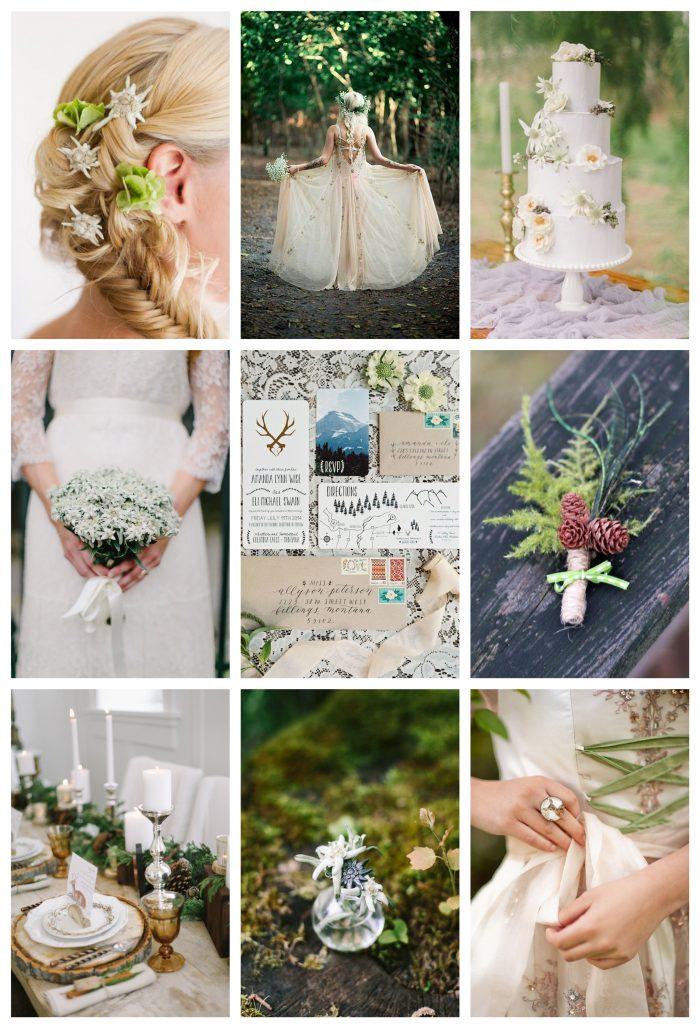0 Alpine Wedding Moodboard Via MountainsideBride.com