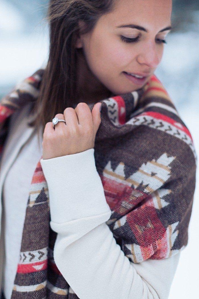 10 Calgary Winter Engagement | Nicole Sarah Photography | Via MountainsideBride Com