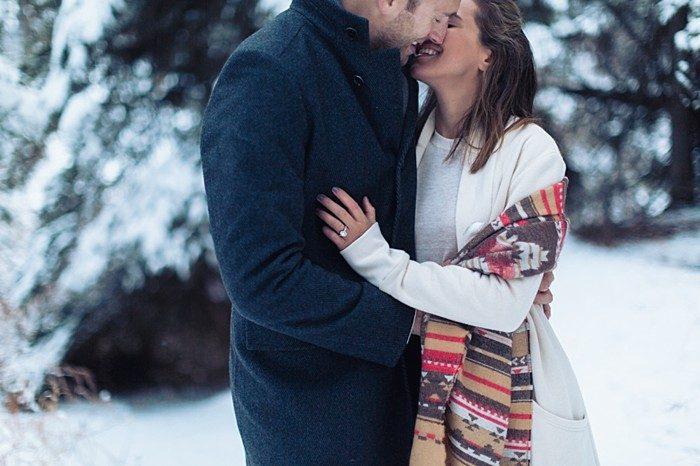 12 Calgary Winter Engagement   Nicole Sarah Photography   Via MountainsideBride Com