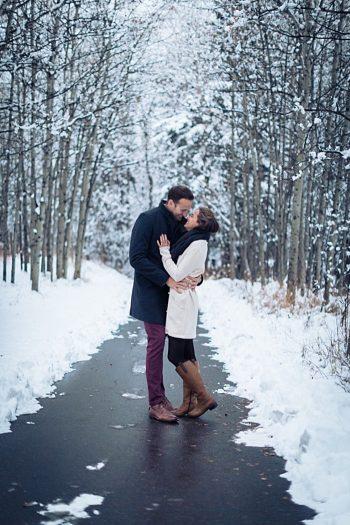 3a Calgary Winter Engagement   Nicole Sarah Photography   Via MountainsideBride Com