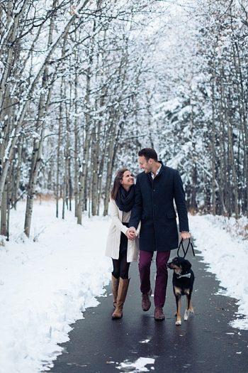 3b Calgary Winter Engagement | Nicole Sarah Photography | Via MountainsideBride Com