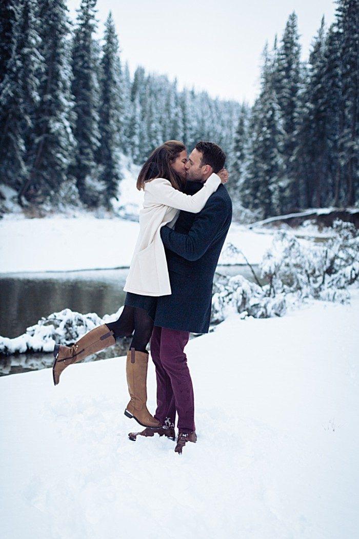 4 Calgary Winter Engagement   Nicole Sarah Photography   Via MountainsideBride Com