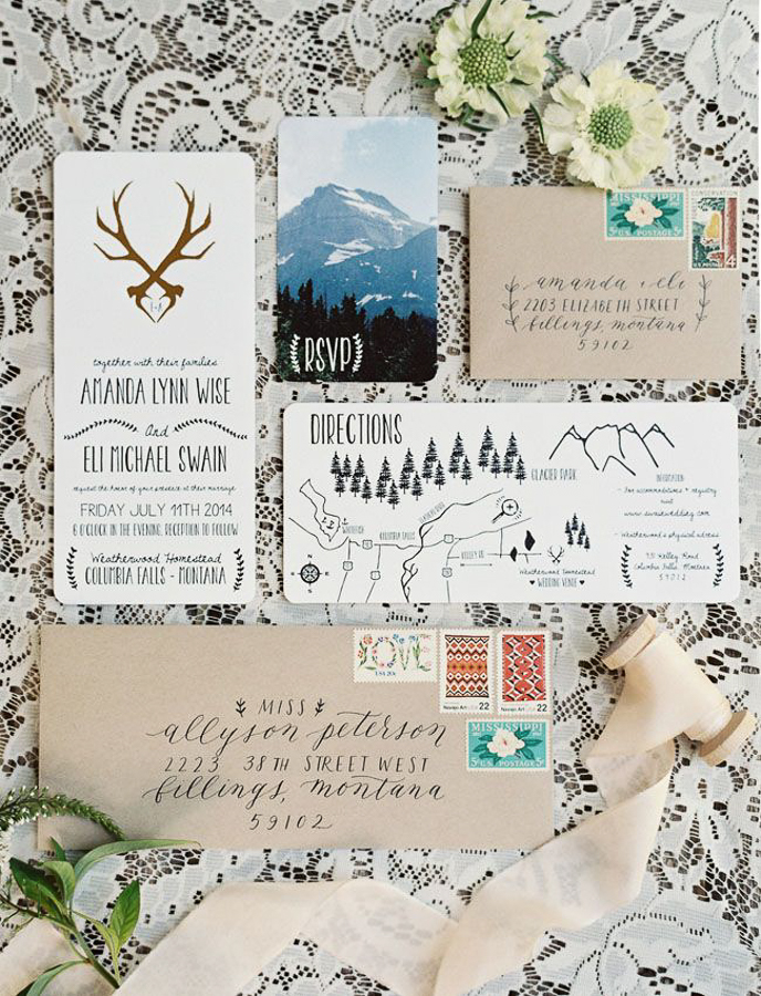 5 Alpine Wedding Moodboard Via MountainsideBride.com
