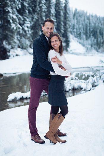 7a Calgary Winter Engagement | Nicole Sarah Photography | Via MountainsideBride Com