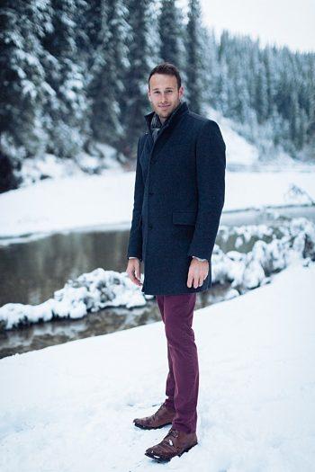 7b Calgary Winter Engagement   Nicole Sarah Photography   Via MountainsideBride Com
