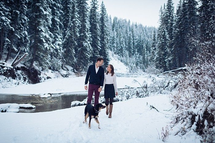 8 Calgary Winter Engagement | Nicole Sarah Photography | Via MountainsideBride Com