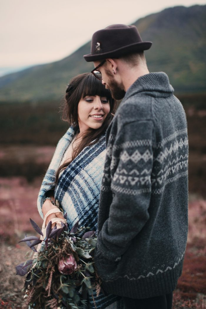 Alaska Wedding Inspiration Lauren Parker | Via MountainsideBride.com