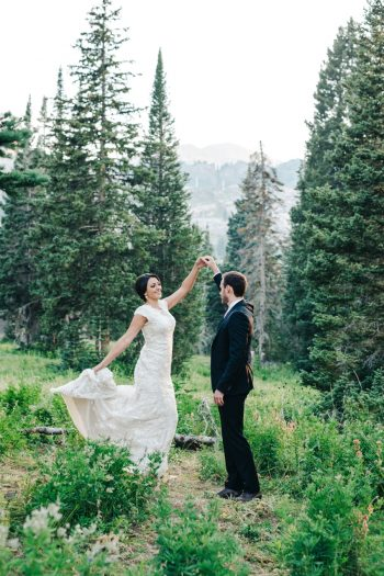 Albion Basin Mountain Bridal Session Utah | Ashleigh Brown Photography | via MountainsideBride.com