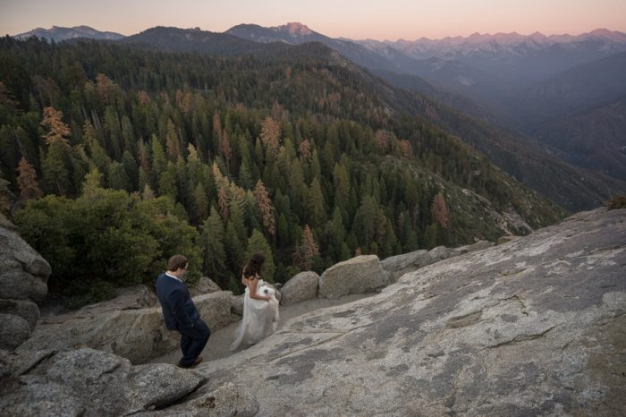 Sequoia Elopement Bergreen Photography | Via MountainsideBride.com