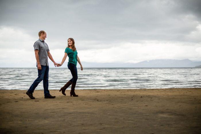 Springtine Tahoe Engagement Eric Asistin | Via MountainsideBride.com