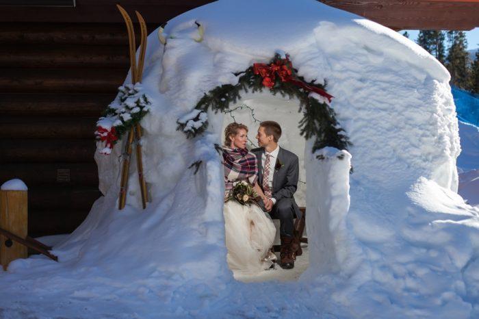 Snow castle | Breckenridge Nordic Wedding Inspiration Bergreen Photography | Via MountainsideBride.com