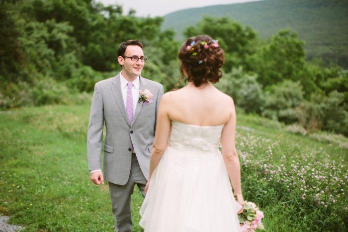 First Look | Bald Eagle State Park Wedding | Caitlin Thomas Photography | Via MountainsideBride.com