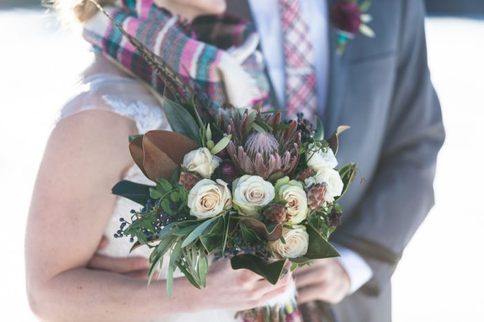 Winter Bouquet | Breckenridge Nordic Wedding Inspiration Bergreen Photography | Via MountainsideBride.com