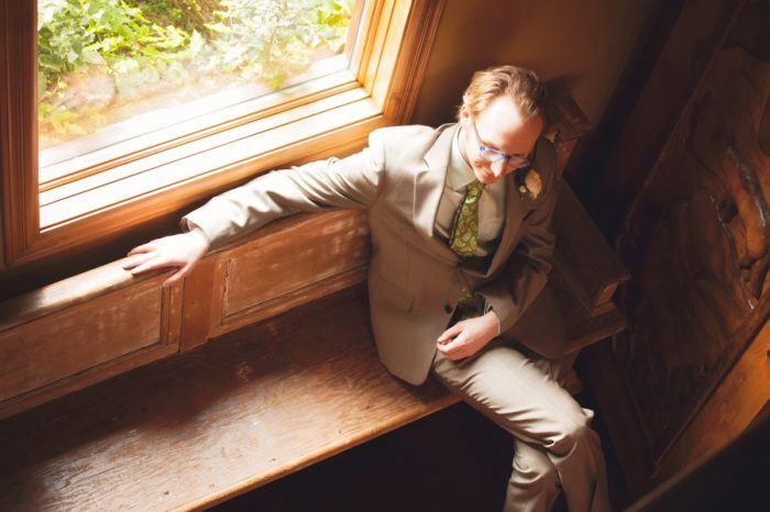 14 Ceremony Groom Portraits Sandpoint Idaho Mountain Wedding Amy Galbraith Photography | Via MountainsideBride.com
