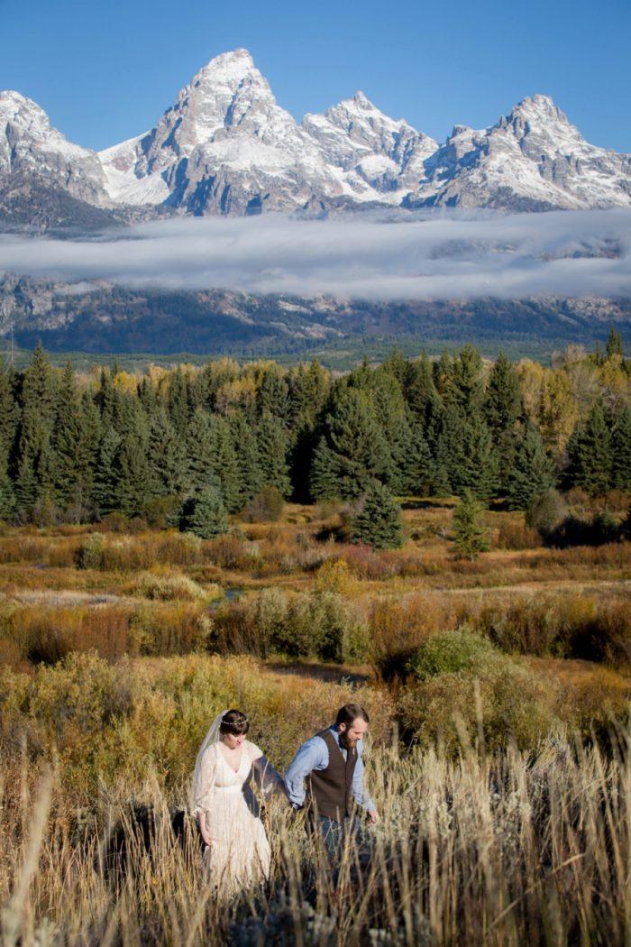 Grand Teton Elopement Jamye Chrisman Photography | Via MountainsideBride.com