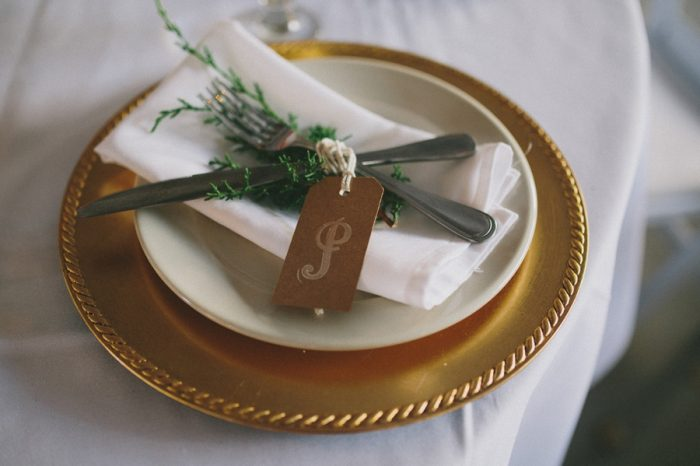 Gold Charger Payton Arizona Wedding Savanna Lauren Photography | Via MountainsideBride.com