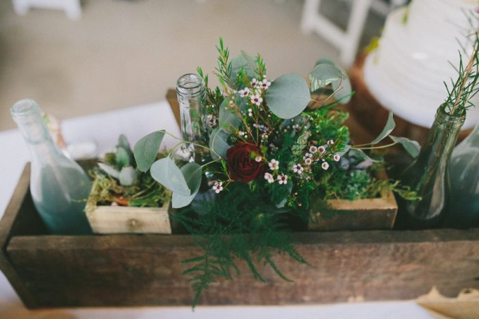 Rustic Centerpiece Payton Arizona Wedding Savanna Lauren Photography | Via MountainsideBride.com