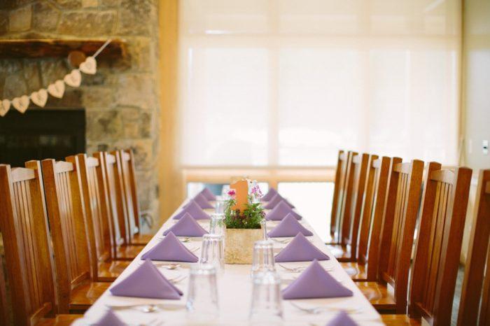 Rustic Table Ideas | Bald Eagle State Park Wedding | Caitlin Thomas Photography | Via MountainsideBride.com