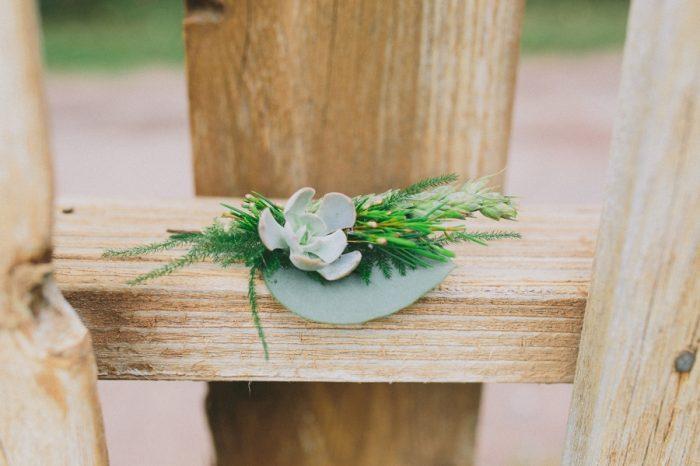 Boutonniere Payton Arizona Wedding Savanna Lauren Photography | Via MountainsideBride.com