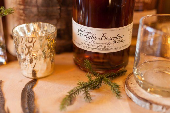 Colorado Whiskey | Breckenridge Nordic Wedding Inspiration Bergreen Photography | Via MountainsideBride.com