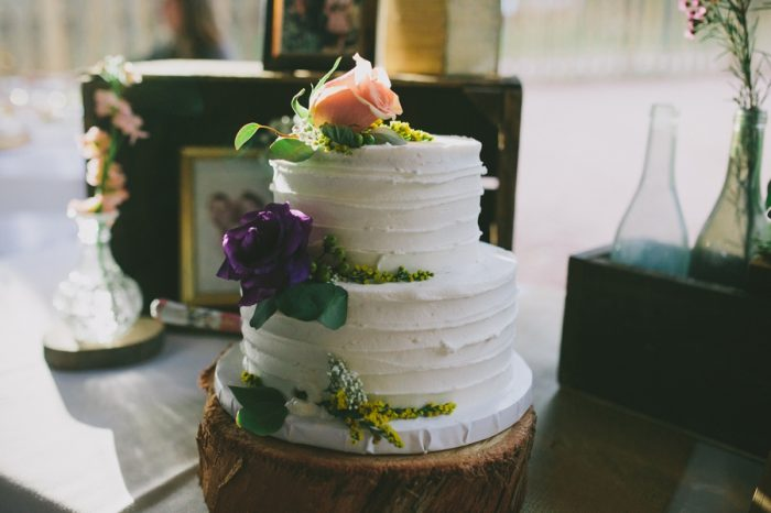 Rustic Wedding Cake Payton Arizona Wedding Savanna Lauren Photography | Via MountainsideBride.com