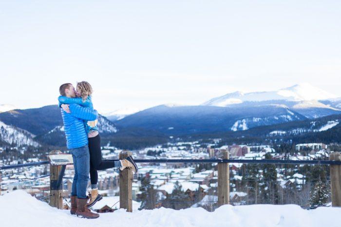 sledding in the snow | Breckenridge Nordic Wedding Inspiration Bergreen Photography | Via MountainsideBride.com