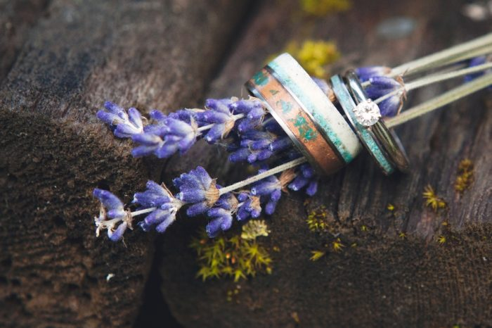 6 Turquoise Wedding Rings Sandpoint Idaho Mountain Wedding Amy Galbraith Photography | Via MountainsideBride.com
